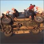 cambiando ruedas en arabia saudi