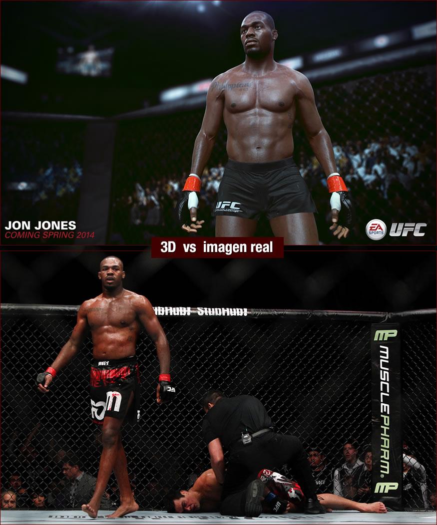 luchador UFC en 3d