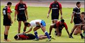 agresión rugby vs fútbol
