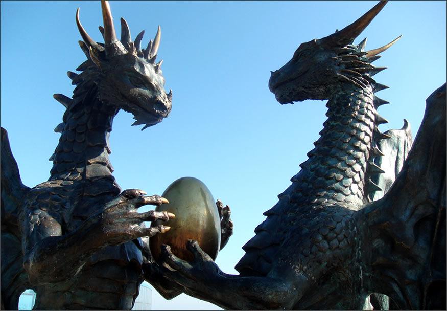 dragones-escultura