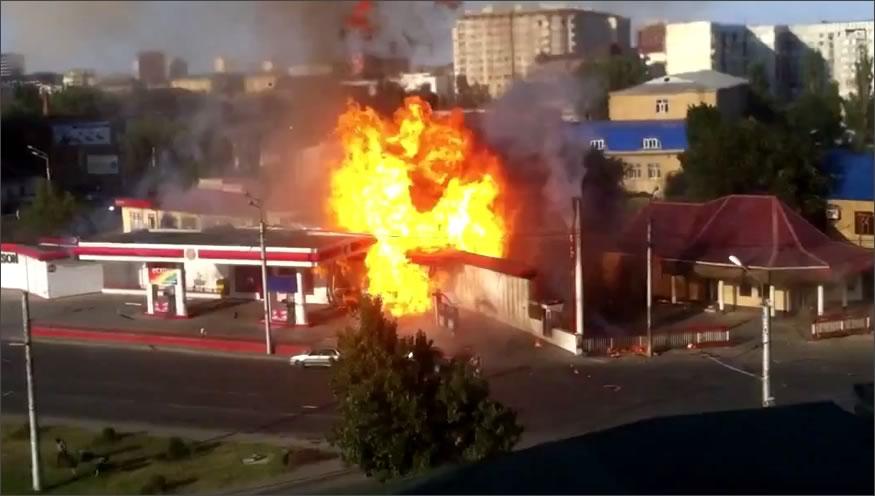 Explosión en una gasolinera