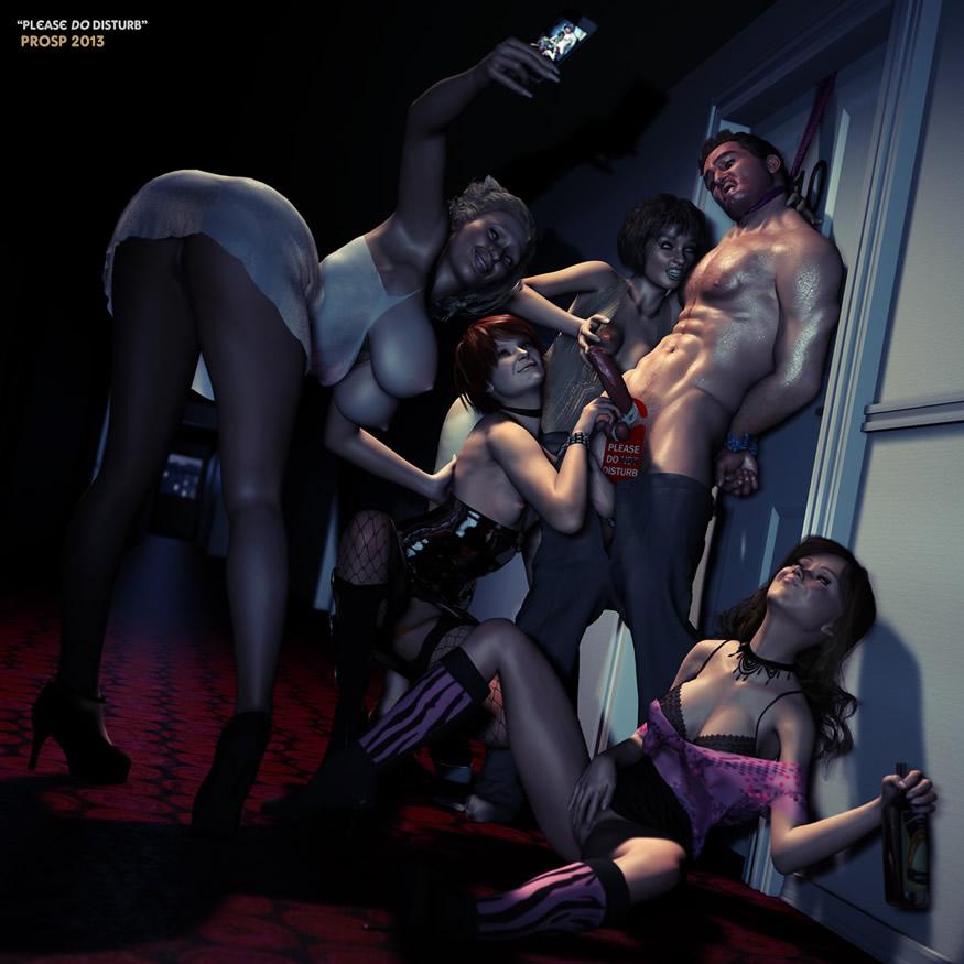 Degradante femdom del hombre