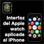 la interfaz del apple watch