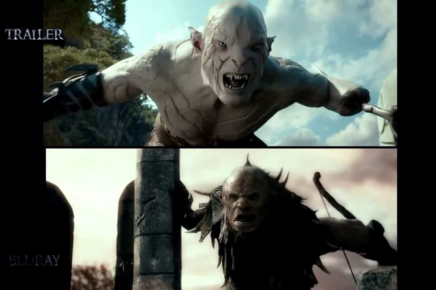 Comparación de trailer a película final