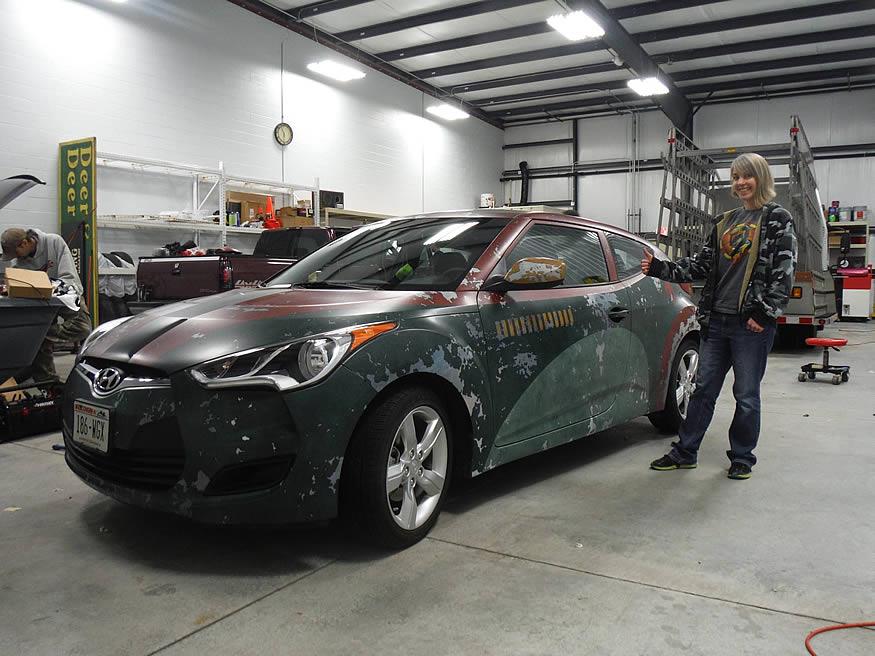 Hyundai tuneado a lo Bobba Fett