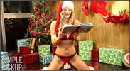 Leyendo cuentos de Navidad sobre un vibrador