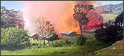 Explosión de una fábrica de fuegos artificiales