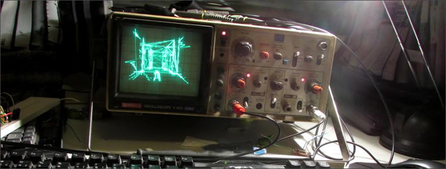 Quake en un osciloscopio