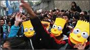 Manifestación por los Simpsons