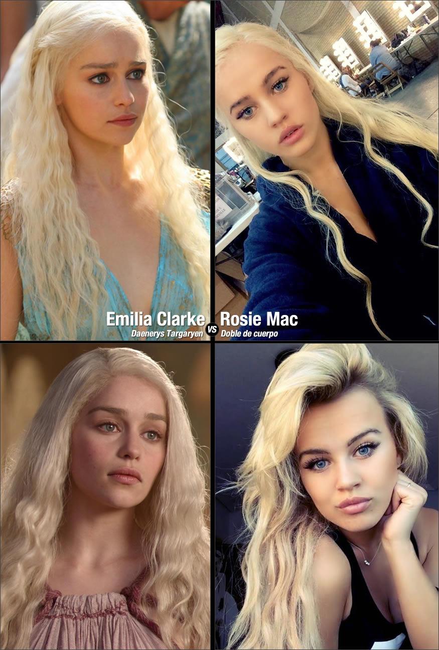 doble de cuerpo de Daenerys Targaryen
