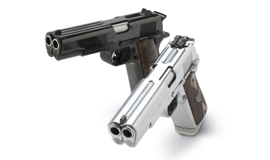 Pistolas semiautomáticas de doble cañon