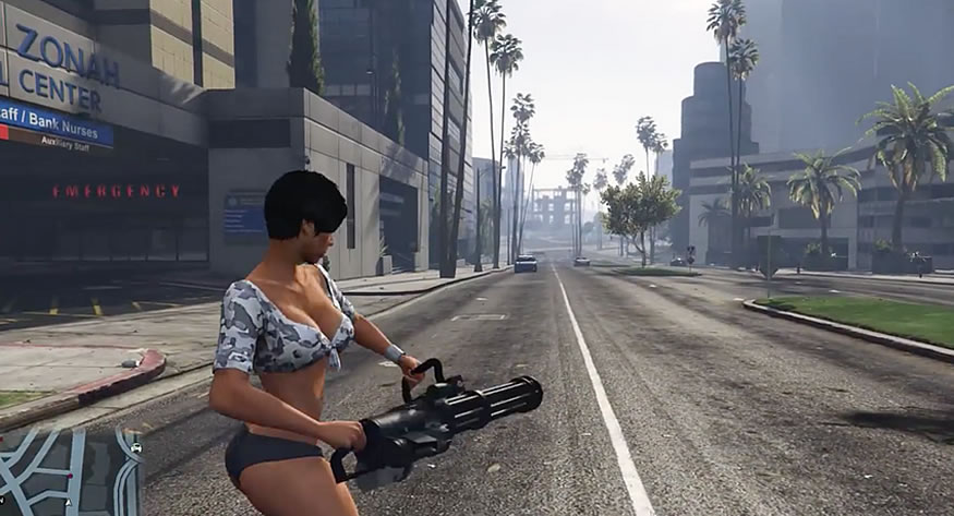 Armas que disparan coches en GTA V