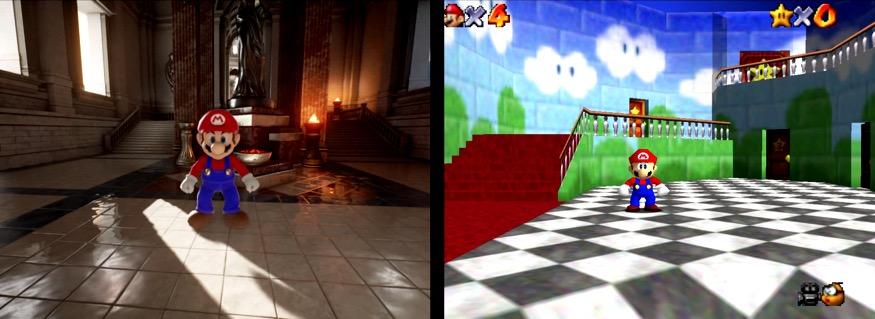 Mario Bros con gráficos potentes