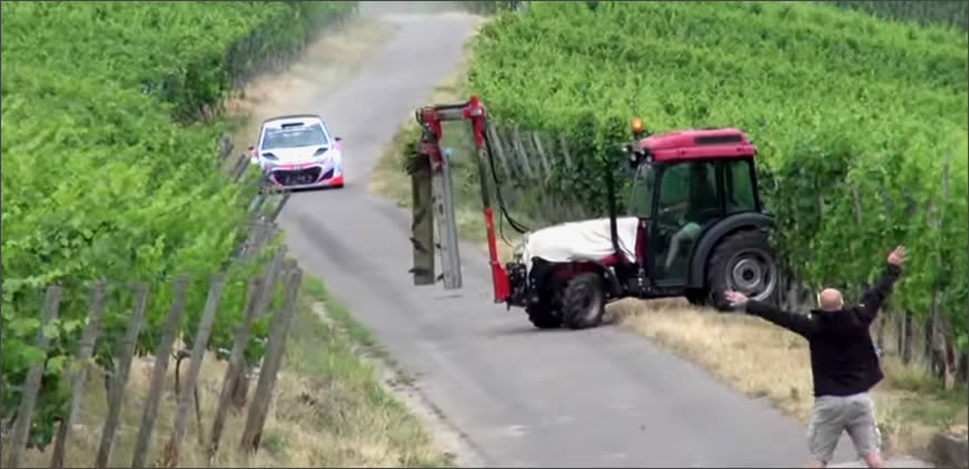 frenos de un coche de Rally