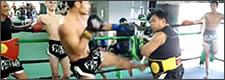Muay Thai sesión de entrenamiento