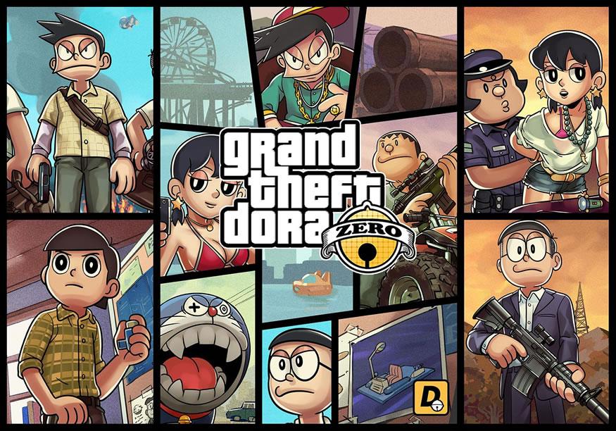 Doraemon a lo GTA V