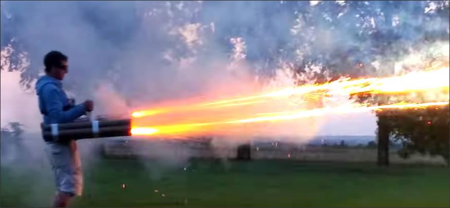 lanzacohetes casero