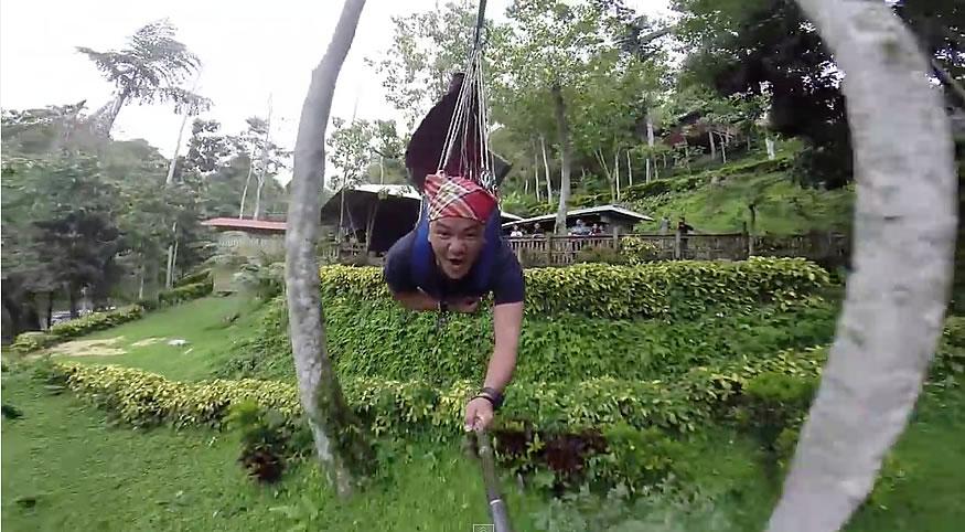 La tirolina del lago Sebu