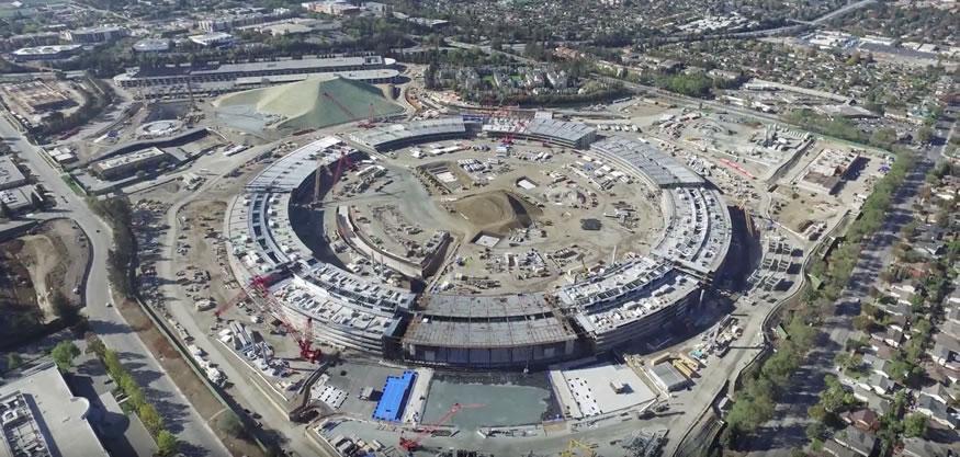 Las obras del gigantesco campus 2 de Apple