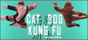 Combate de Kung Fu entre perro y gato