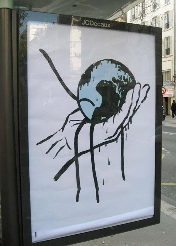carteles sobre el cambio climático
