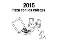 Pizza con los colegas