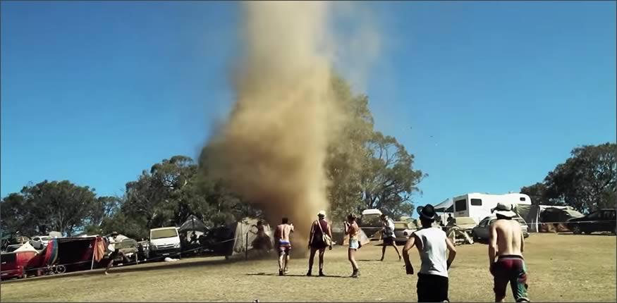 tornado en un festival