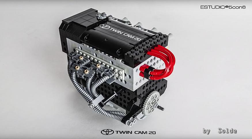 Replicas de motores reales hechos con lego