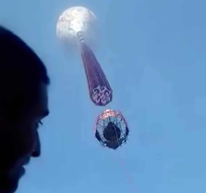 Pirotecnia desde el globo aerostático