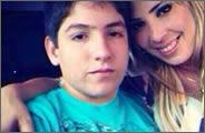 Modelo brasileña de 30 años y su novio de 13