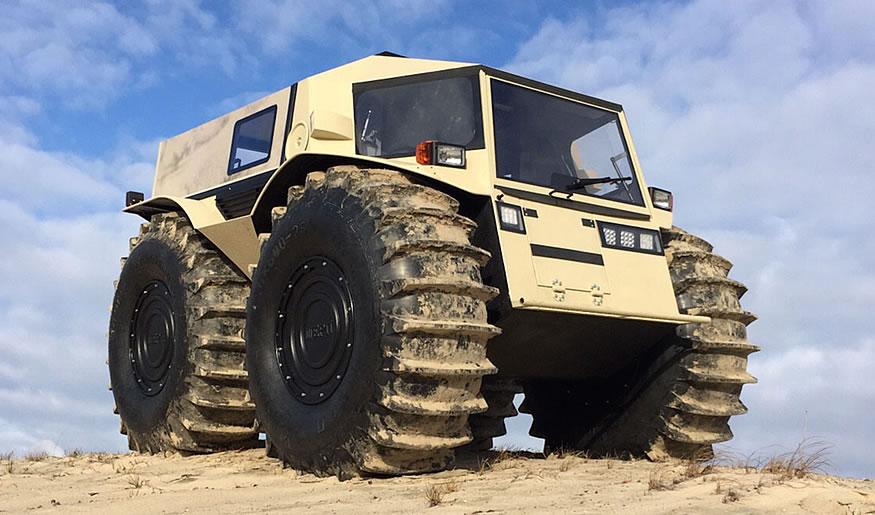 Sherp ATV el mini tanque ruso 4x4 y anfibio