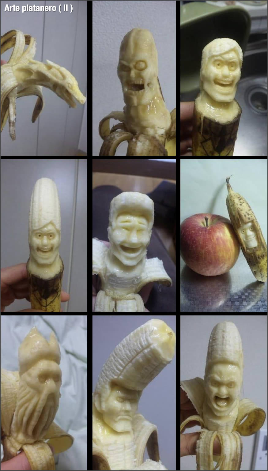 Arte con plátanos