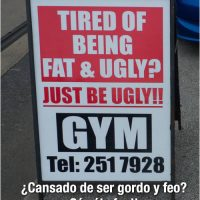 Cartel de Gym