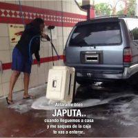Lavando al perro
