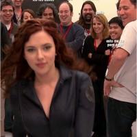 Visitando el set de rodaje con Scarlett Johansson