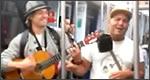 Artistas en el metro