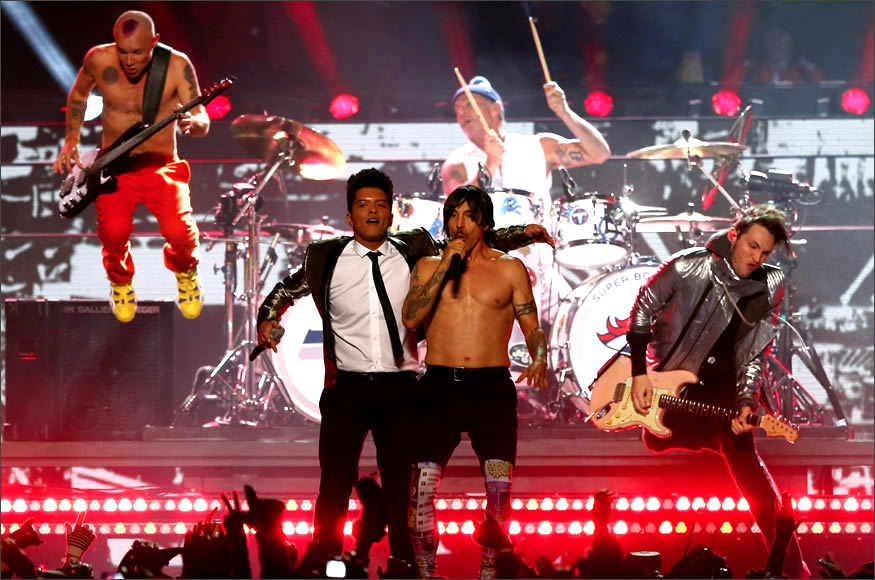 Bruno Mars y Red Hot Chili Peppers