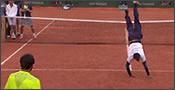 Duelo de bailes en Roland Garros