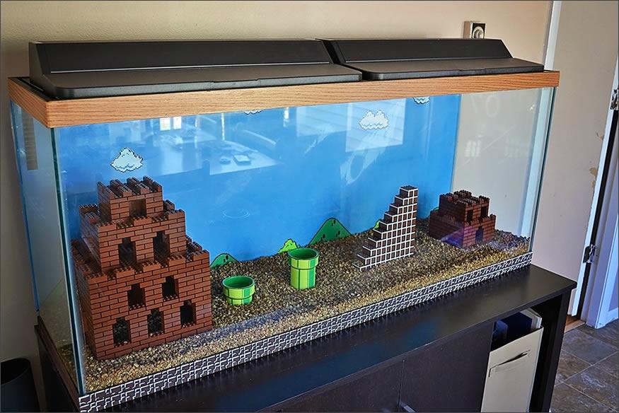 acuario de Mario Bros