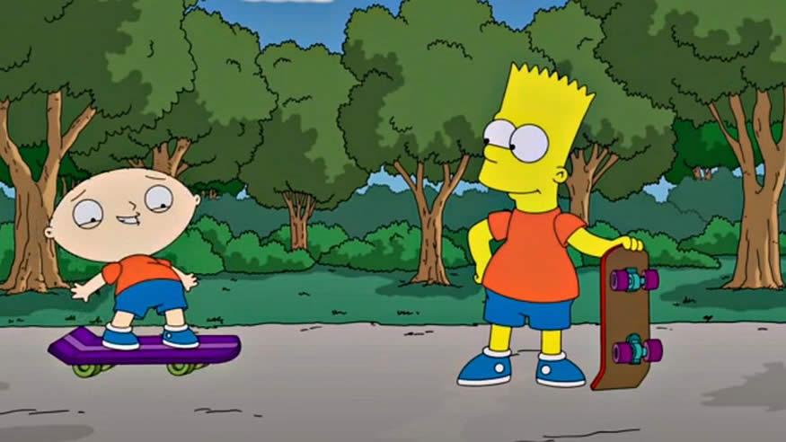 crossover Padre de familia y los Simpsons
