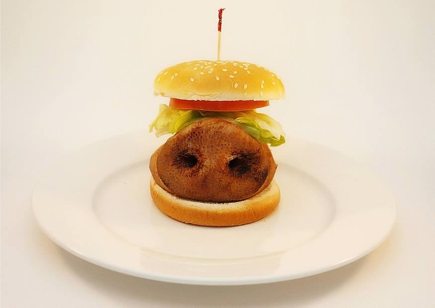 hamburguesa basura