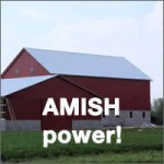 Amish montando un granero en 10 horas