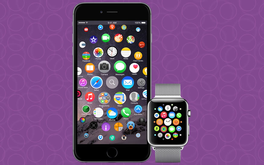 Interfaz del apple watch aplicado al iPhone