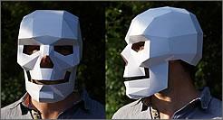 Máscara geométrica de papel