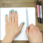 dibuja tu mano con efecto 3D