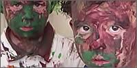 travesuras niños pintados