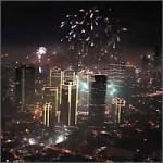 Año nuevo en la ciudad de Manila