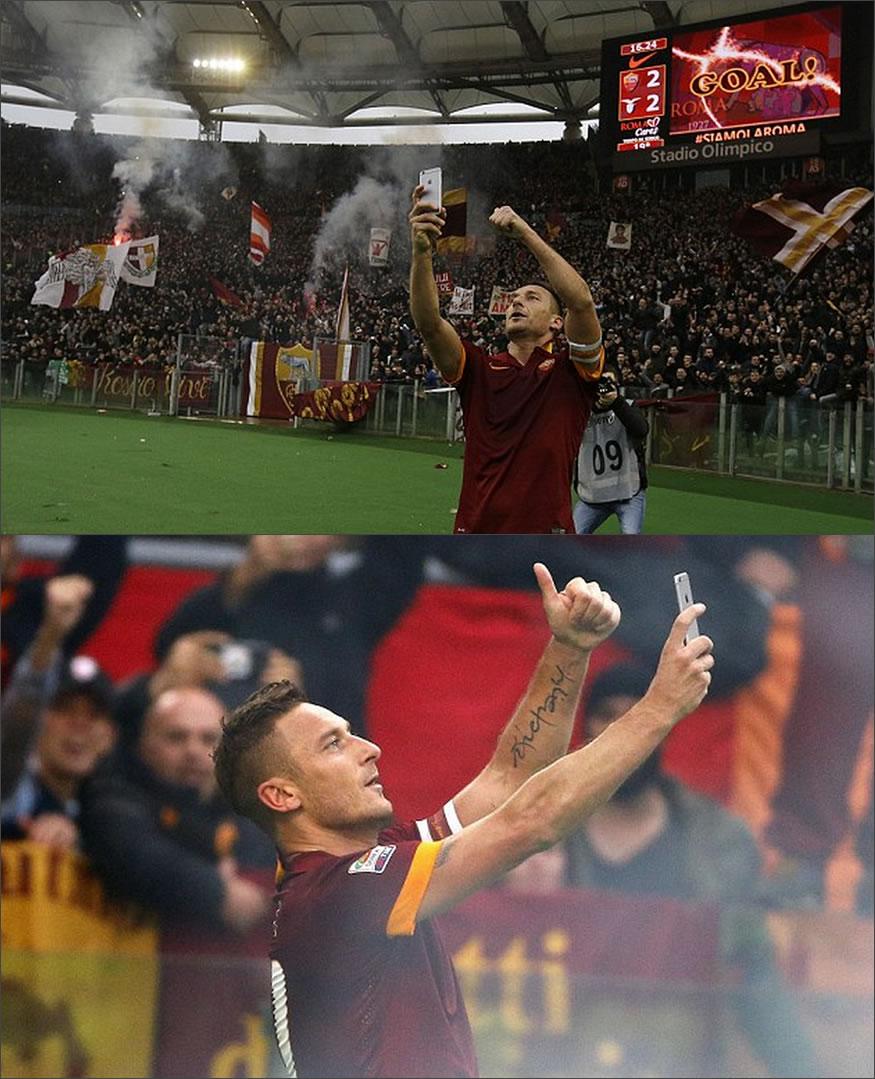 selfie de Totti