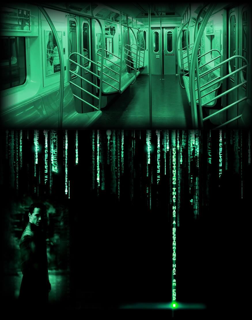 caballero en el metro