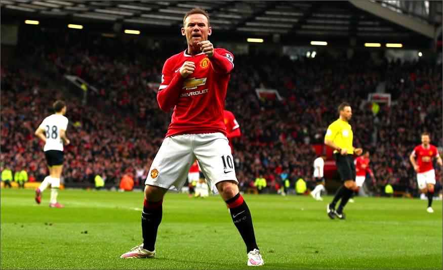 Wayne Rooney celebra el gol
